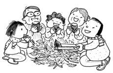 教会学校焼き芋パーティー