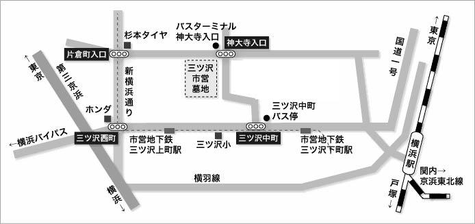 三ッ沢墓地地図